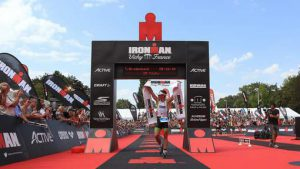 VICHY, FRANCE - AUGUST 28: Tim Brydenbach of Belgium finishes in second place during Ironman Vichy on August 28, 2016 in Vichy, France. (Photo by Stephen Pond/Getty Images)